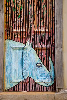 Rhino door, Valpariaso, Chile. Unusual but i think its great for a door to look like more than just a door.