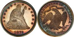1873 Seated Liberty Quarter No Arrows PCGS Secure PR67CAM CAC (EST: $10,000.00+, No Reserve) | READ MORE AND BID NOW: http://www.legendmorphyauctions.com/search/details/c/Classic_U.S._Coins/g/Quarters?id=102077&lotId=2543
