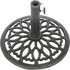 Trademark Innovations 17.5 in. Cast Iron Patio Umbrella Base (Green)