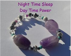 Night Time Sleep Day Time Power Bracelet Amethyst by CrystalMeB, Etsy