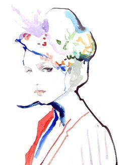 Ioana Avram Fashion illustrations Illustrations Posters, Fashion Illustrations, Fashion Sketches, Fashion Drawings, Cute Illustration, Color Theory, Art Paintings, Color Inspiration, Fashion Art