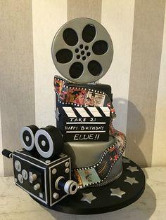 Film lovers cake film reel cake