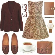Oversized sweater + dress + loafers = cozy Saturday afternoon wear
