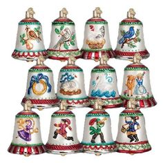 Old World Christmas Twelve Days of Christmas Bells Glass Ornament * Continue to the product at the image link. (This is an affiliate link and I receive a commission for the sales)