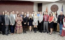 (L to R) Front Row: Cherokee Nation Supreme Court Justice Angela Jones…