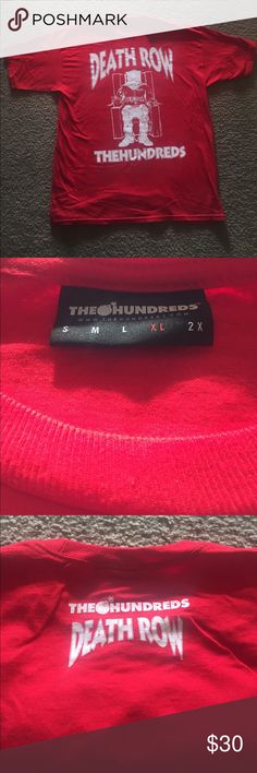 The hundreds x death row records XL tshirt The Hundreds x Death row records red t shirt size XL The Hundreds Shirts Tees - Short Sleeve