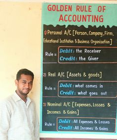 Golden rule of accounting. Accounting Notes, Accounting Education, Accounting Classes, Accounting Basics, Accounting Student, Accounting Course, Bookkeeping And Accounting, Accounting And Finance, Accounting Information