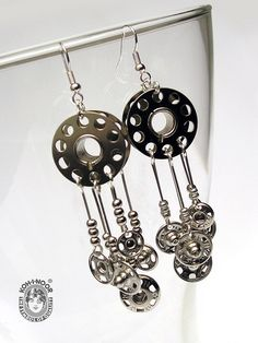 Bobbin and Snaps Earrings