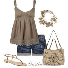 I love the simplicity of this but I would have to add a bathing suit under the top or a white tank top.