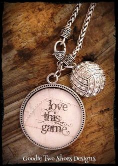 Volleyball Mom Necklace Volleyball Necklace by mygoodie2shoes, $26.00