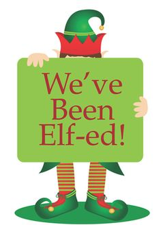 This is so fun to play with your neighbors!! I was Elf-ed last night.