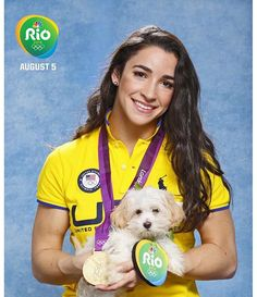 This week on the blog - 2016 Olympians and their Pets! Gymnast Aly Raisman adopted this puppy! ❤️ #RoadToRio http://www.dogwatch.com/dogtails/2016/08/05/2016-summer-olympians-and-their-pets/