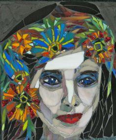 mosaic art by kat gottke  flower girls