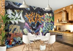 graffiti wall coverings.