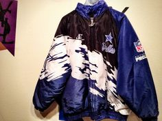 DALLAS COWBOY LOGO ATHLETIC SPLASH JACKET! SIZE LARGE! TEAM COLORS! SOLD!!!  Subscribe to our mailing list and become a member to be the first to know  about ... 7f6f6a465
