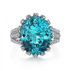 Omi Prive: Cuprian Elbaite Tourmaline and Diamond Ring
