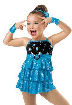 Girls' Tiered Sequin Jazz Dress; Weissman Costumes