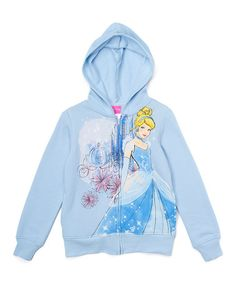 Another great find on #zulily! Blue Cinderella Carriage Hoodie - Girls #zulilyfinds