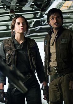 Rogue One: A Star Wars Story - Jyn Erso and Captain Cassian Andor.