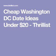 Cheap date ideas dc