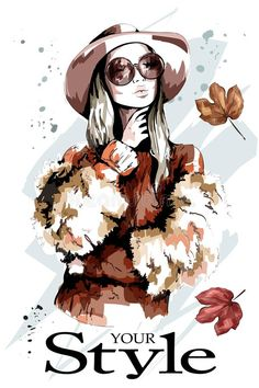 sunglasses sketch Fashion lady in hat. Stylish woman in sunglasses. Female Portrait, Woman Portrait, Image Bougie, Watercolor Paintings For Beginners, Fashion Artwork, Elegant Girl, Halloween Drawings, Cute Girl Face, Arte Pop