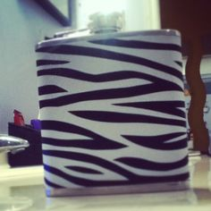 Zebra Print Flask