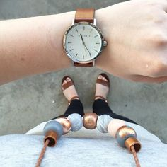 """""""Today was a tan kind of day! Our tan braided leather featured here on 'the Sophie' matches perfectly with the horse tan leather watch and Windsor smith sandals!"""" Photo taken by @rafandhop on Instagram, pinned via the InstaPin iOS App! http://www.instapinapp.com (10/13/2015)"""