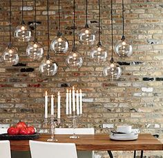 firefly pendant lamp | CB2 - Love 2 or more of these end to end to make a long, linear light