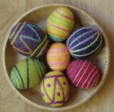 March ~ Spring Equinox ~ Felted Eggs