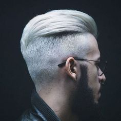 Platinum Slicked Back Undercut