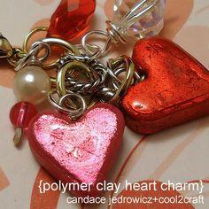 valentines charm polymer clay - Buscar con Google