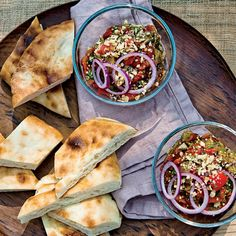 Grilled Eggplant Salad with Walnuts   Terrific as a salad or a spread for flatbread, adzhapsandali is like a Georgian version of ratatouille. Grilling the eggplant gives the dish a luscious, smoky flavor.