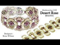 Desert Rose Bracelet (Rene Wilson) from YouTube, supplies from Potomac Bead Company (www.potomacbeads.com)