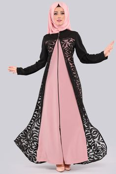 tesetturelbis … Among the cheapest ferace models and prices are lacy o … – Hijab Clothing & Fashion Hijabi Gowns, Hijab Dress, Hijab Outfit, Abaya Fashion, Muslim Fashion, Hijab Casual, Girl Fashion, Fashion Outfits, Lace Body