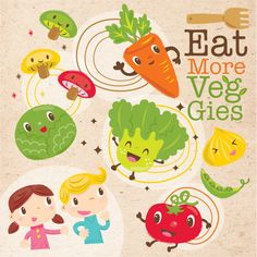 Eat More Veggies Campaign by Silvia Cheung, via Behance