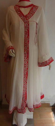 Angrakha Style Frock 2013, Angrakha Dress Designs