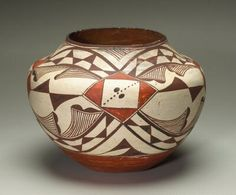 Vessel, Acoma Pueblo, 19th-20th century  This would look great in my Native American pottery collection!  Acoma is one of my favorite styles... and I've even been to the Reservation!