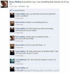 Harry and Draco sitting in a tree K-I-S-S-I-N-G - Don't ship it, won't ship it, but this is pretty funny.