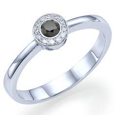 060 carats Round Cut Natural Black Diamond Engagement door ldiamonds, $678,00