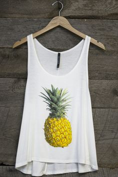 Pineapple Graphic Tank Top