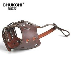 CHUKCHI Adjustable Leather Anti-biting Dog Muzzle(L) *** More info could be found at the affiliate link Amazon.com on image.