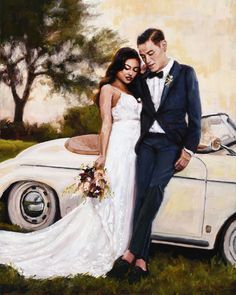 One of my favorite wedding pieces! Wedding Art, Happily Ever After, Wedding Dresses, Fashion, Bride Dresses, Moda, Bridal Gowns, Fashion Styles