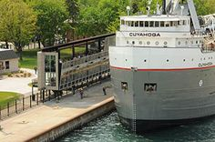 The Soo Locks in Sault Ste. Marie, Michigan, has nearly 7,000 vessels pass through the Locks annually. They are legendary in the maritime world and a must see in the Sault!