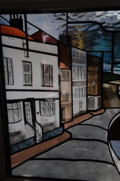 A #stained #glass panel created for The Magpie Cafe in Whitby.