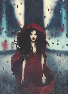 Fantasy Photograph Romantic Kaos by Amanda Diaz, Grimm and fairy gothic red riding hood inspiration Fantasy Photography, Portrait Photography, Fashion Photography, Snow White Photography, Lumiere Photo, Amanda Diaz, Red Ridding Hood, Arte Obscura, Dark Beauty