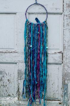 Bohemian Hippie Dreamcatcher Blue Purple Fairy Fair by Studio Yuki