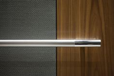 Bonded Aluminum with Dark Patina and Charleston pattern, and American Walnut wood veneer; Sextant handrail at Twelve Corporate Interiors, Hotel Interiors, Banquette Seating Restaurant, Rainy Wallpaper, Elevator Design, Stair Lift, Elevator Lobby, Lift Design, Lobby Interior