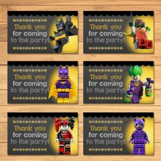 🎂 Thanks for checking out my Lego Batman Party Favor Tags for your Lego Batman Party! 🎂 These Lego Batman thank you tags are the perfect addition to Lego Batman Birthday, Lego Batman Party, Minecraft Birthday Party, Lego Batman Movie, Superhero Party, 4th Birthday, Superman, Birthday Ideas, Batman Party Favors