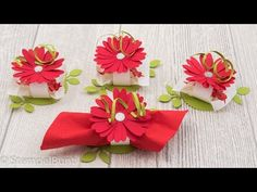 """Tableware / napkin ring """"summer bloom"""" with Stampin'Up! Handmade Gifts For Men, Handmade Rugs, Fleurs Diy, Embroidered Towels, Diy Wedding Decorations, Halloween Cards, Crochet Gifts, Handmade Flowers, Stampin Up Cards"""