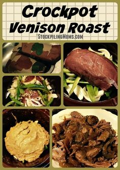 Crockpot Venison Roast is a tasty, low fat and great comfort food recipe made with simple ingredients!
